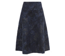 Nymphea Cotton-blend Floral-jacquard Midi Skirt