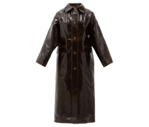 Vinyl-coated Wool Longline Coat