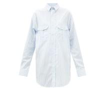 Release 07 Striped Cotton-poplin Mini Shirt Dress
