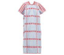 No.169 Striped Embroidered Cotton Kaftan