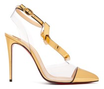 Alta Firma 100 Metallic-leather And Pvc Pumps