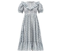 May Ruffled Floral-print Cotton Dress