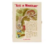 Alice In Wonderland Embroidered Book Clutch Bag