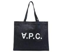 Daniela Logo-print Denim Tote Bag