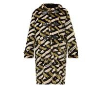 La Greca Hooded Faux-fur Duffle Coat