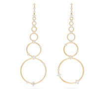Aerial Loops Diamond & 18kt Gold Drop Earrings