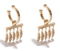 Grass Dewdrop Diamond & 18kt Gold Drop Earrings