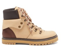 Eileen Leather Hiking Boots