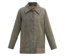 Single-breasted Flocked Wool-tweed Jacket