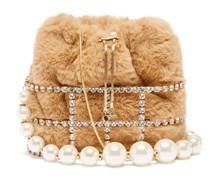 Poppy Faux-fur Cage Handbag
