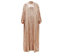 Sheela High-neck Sequinned-georgette Tent Dress