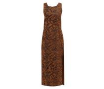 Charlotte Zebra-print Cotton Midi Dress