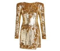Sequinned-silk Mini Dress
