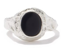 The Clandestine Onyx & Sterling-silver Ring
