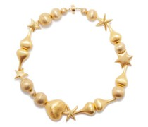 Beaded 24kt Gold-plated Necklace