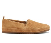 Shearling-lined Cotton-corduroy Slippers