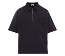 Zip-up Cotton-jersey Polo Shirt