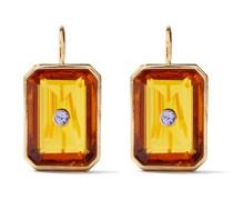 Tile Tanzanite, Quartz & Gold-plated Earrings