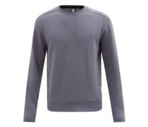 Rolled-seam Cott-jersey Sweatshirt