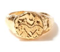 Gemini 24kt Gold-plated Zodiac Ring