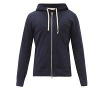 Zipped Cotton-terry Hooded Sweatshirt