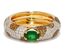 Alliance Diamond, Tsavorite & 18kt Gold Ring