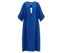Thebes Linen Maxi Kaftan Dress