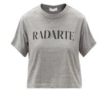 Radarte-print Jersey Cropped T-shirt