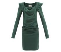 Elizabeth Cowl-neck Cotton-jersey Dress