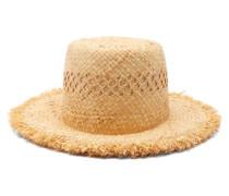 Honeycomb Fringed Raffia Hat