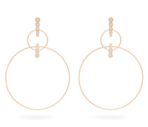 Double Hoop Diamond & 18kt Rose Gold Earrings