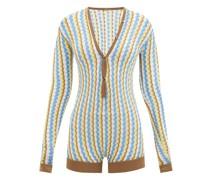 Shiya Zigzag-striped Bodysuit