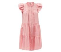 Shannon Gathered Ramie-poplin Dress