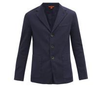 Garment-dyed Linen-blend Twill Blazer