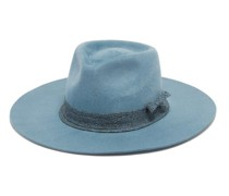 Woven-trim Felt Fedora Hat