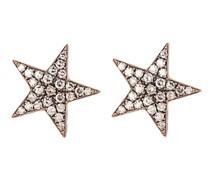 Istanbul Diamond & 18kt Gold Stud Earrings