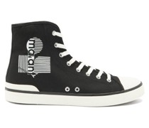 Benkeen Logo High-top Canvas Trainers