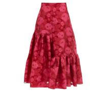 Gaura Floral Fil-coupé Organza Midi Skirt