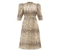 Leo Leopard-print Cotton Dress