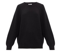 Round-neck Ribbed-cashmere Sweater