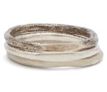 Set Of Three Core Spliced Sterling-silver Rings