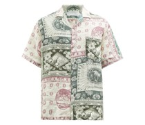 Lamba-print Organic-linen Shirt