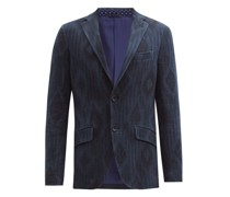 Diamond-jacquard Cotton-blend Tweed Blazer