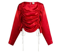 Ruched Silk-satin Blouse