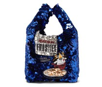 Frosties Sequinned Recycled-satin Tote Bag