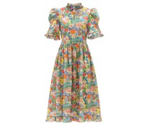 Leandra Floral-print Cotton-poplin Dress