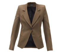 Tailored Single-breasted Wool-twill Blazer