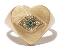 Eye Chevalier Diamond, Sapphire & 18kt Gold Ring