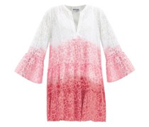 Tiered Floral-print Ombré Cotton-voile Dress