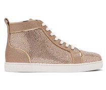 Louis Crystal-embellished High-top Suede Trainers